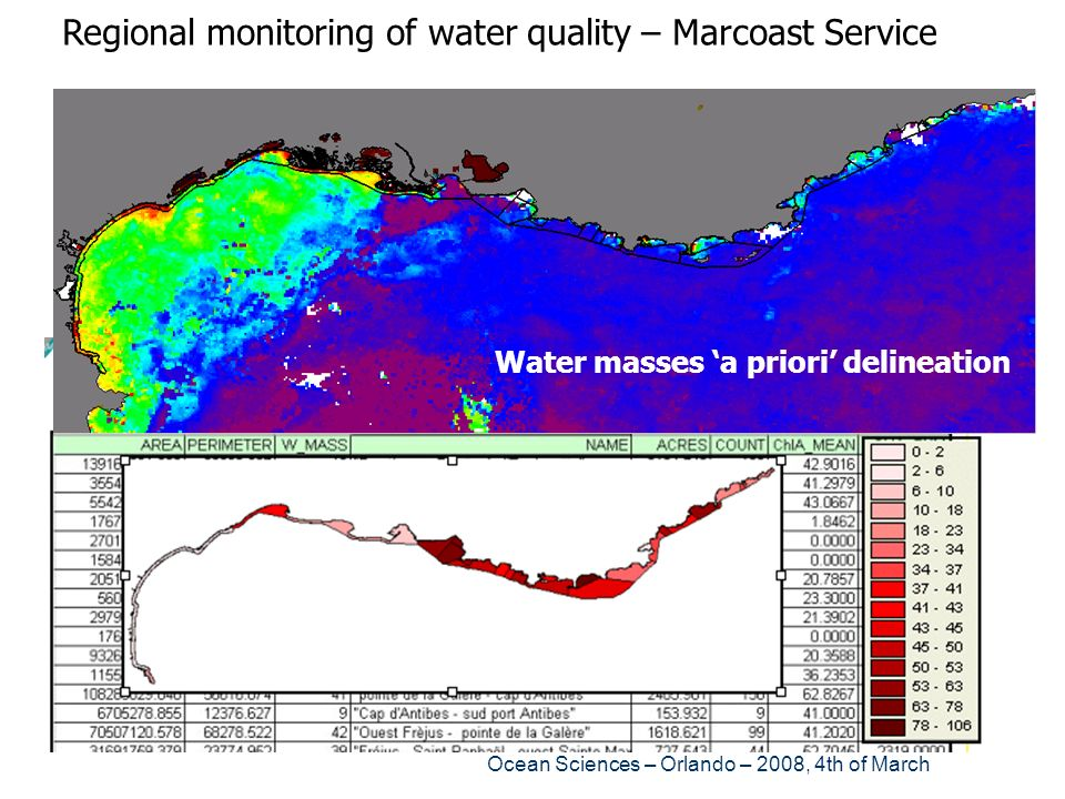 Regional monitoring of water quality – Marcoast Service