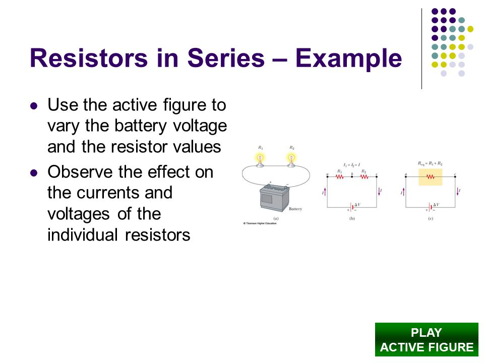 Resistors in Series – Example
