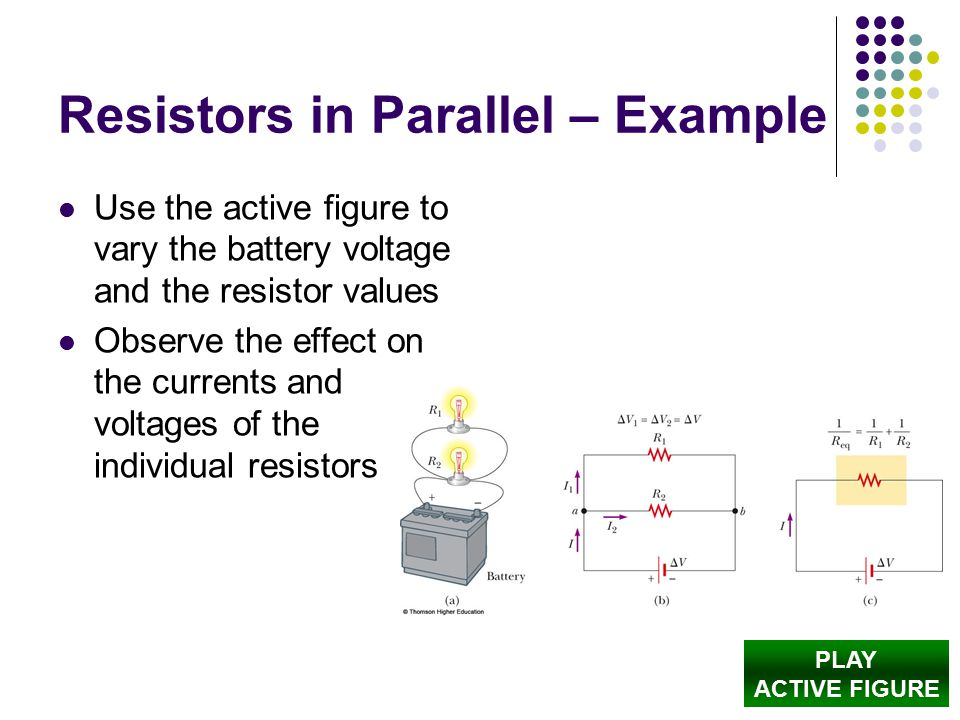 Resistors in Parallel – Example