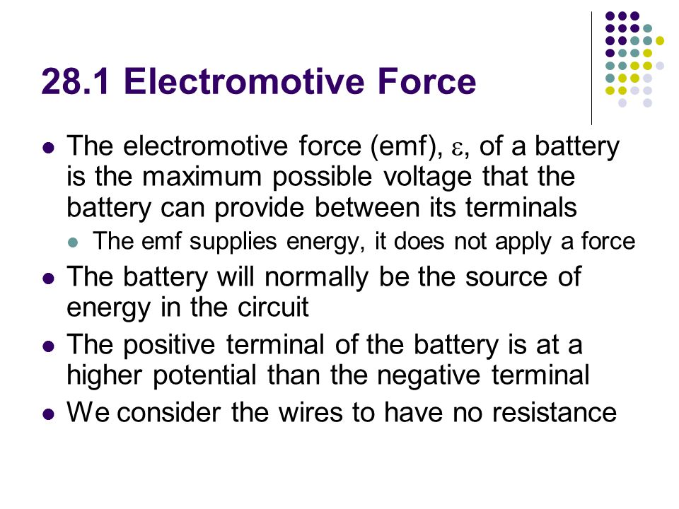 28.1 Electromotive Force