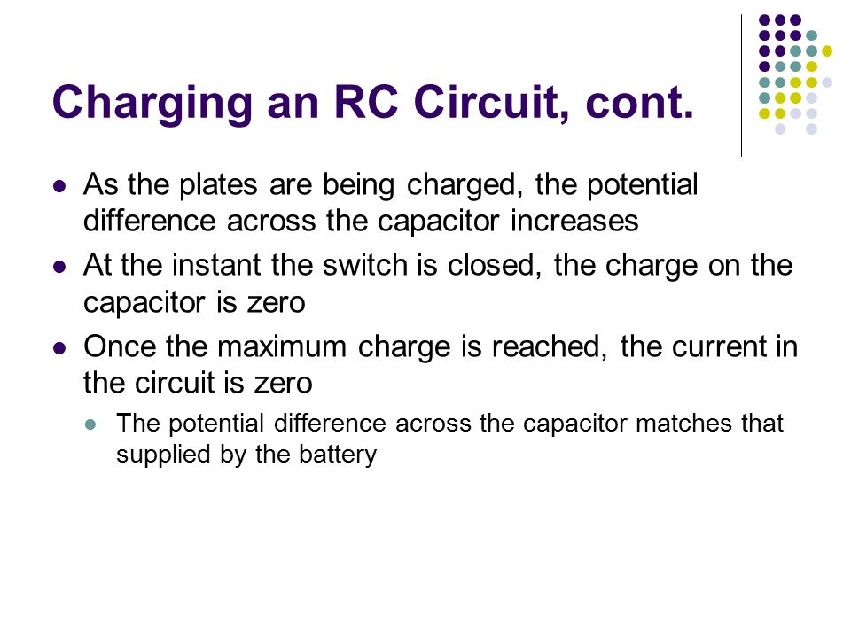 Charging an RC Circuit, cont.
