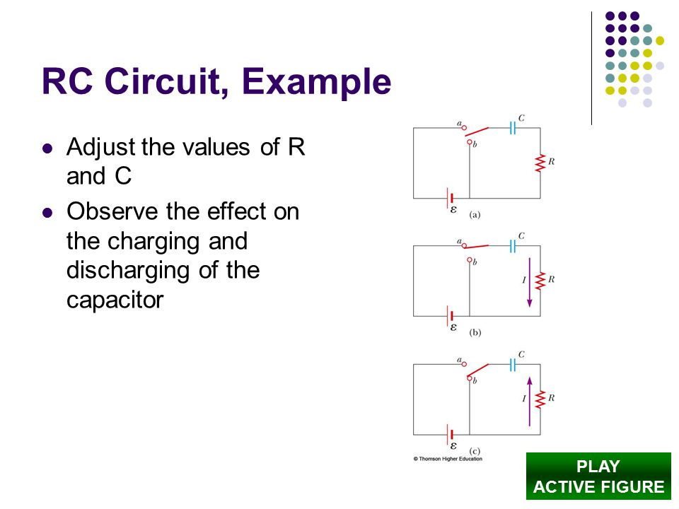 RC Circuit, Example Adjust the values of R and C