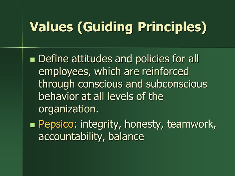 Values (Guiding Principles)