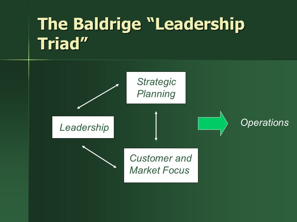 The Baldrige Leadership Triad