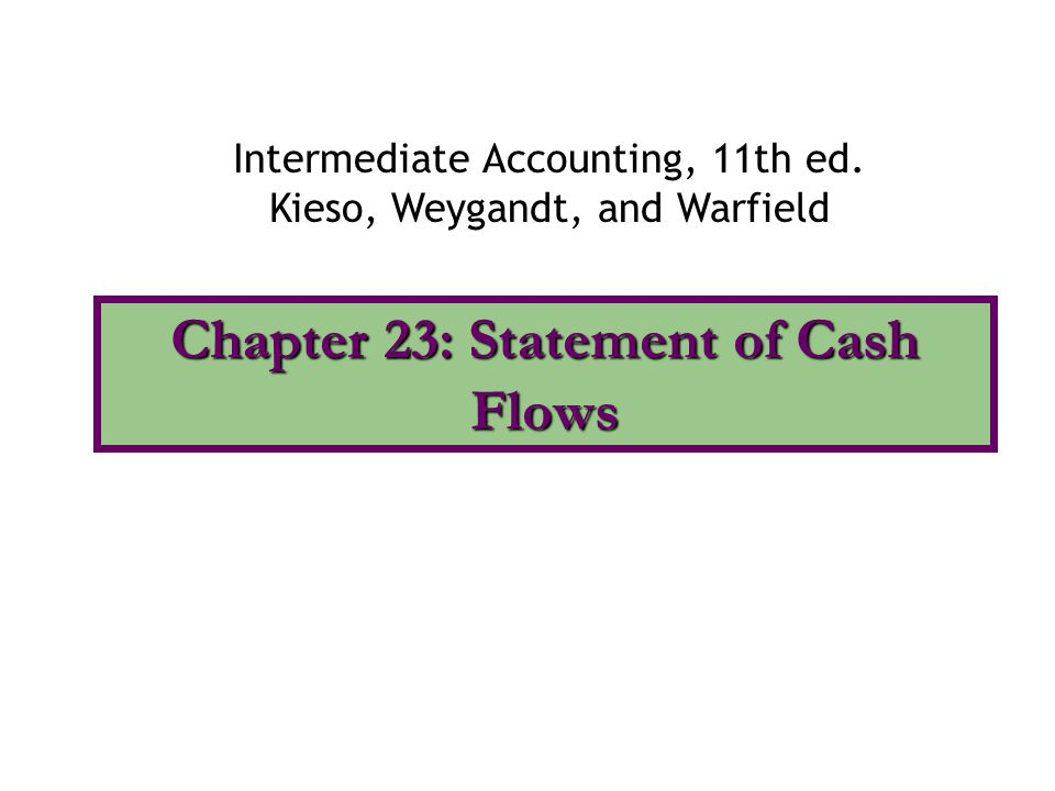 chapter 23 statement of cash Chapter 23 - notes audit of cash of cash flowing into and out of the cash account is frequently larger than for any other account in the financial statements.