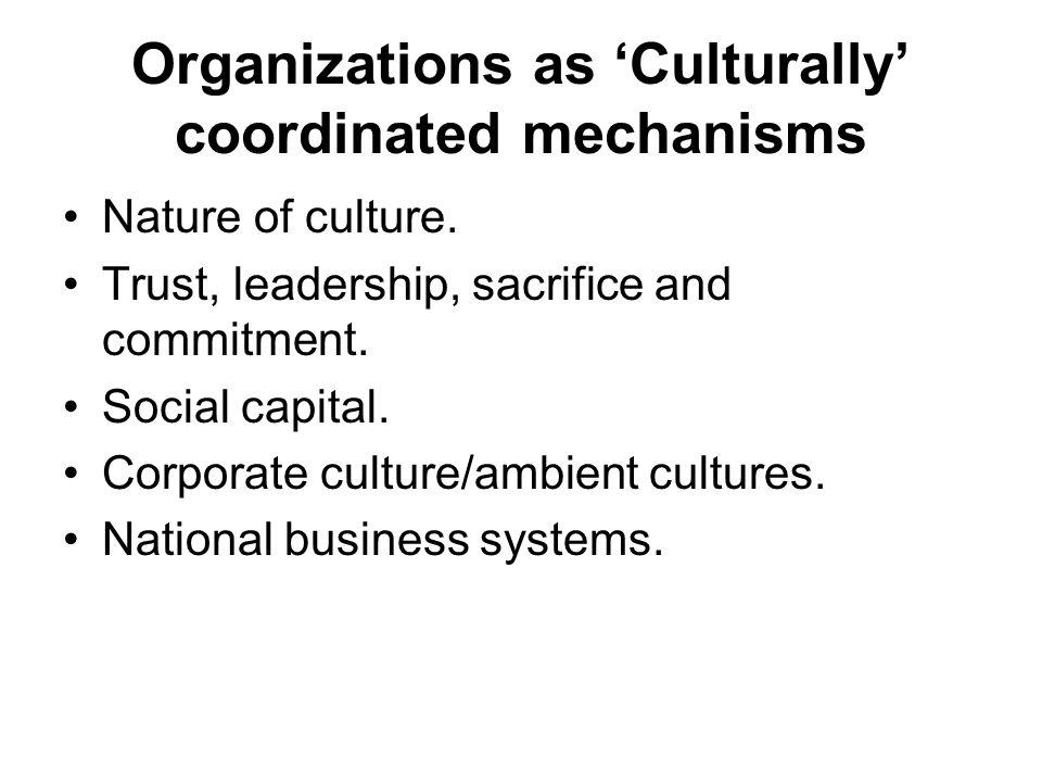 organization control mechanisms