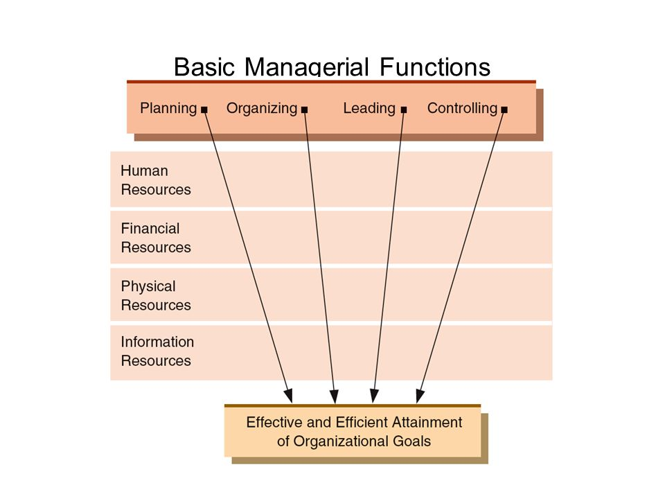 managerial functions List and explain the four basic functions of management and provide an example of how a manager would use each function in their work in order to be a good and effective manager one must.