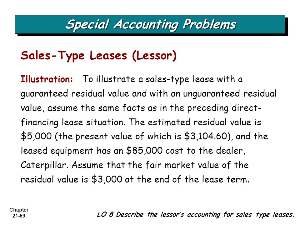 how to find residual value accounting