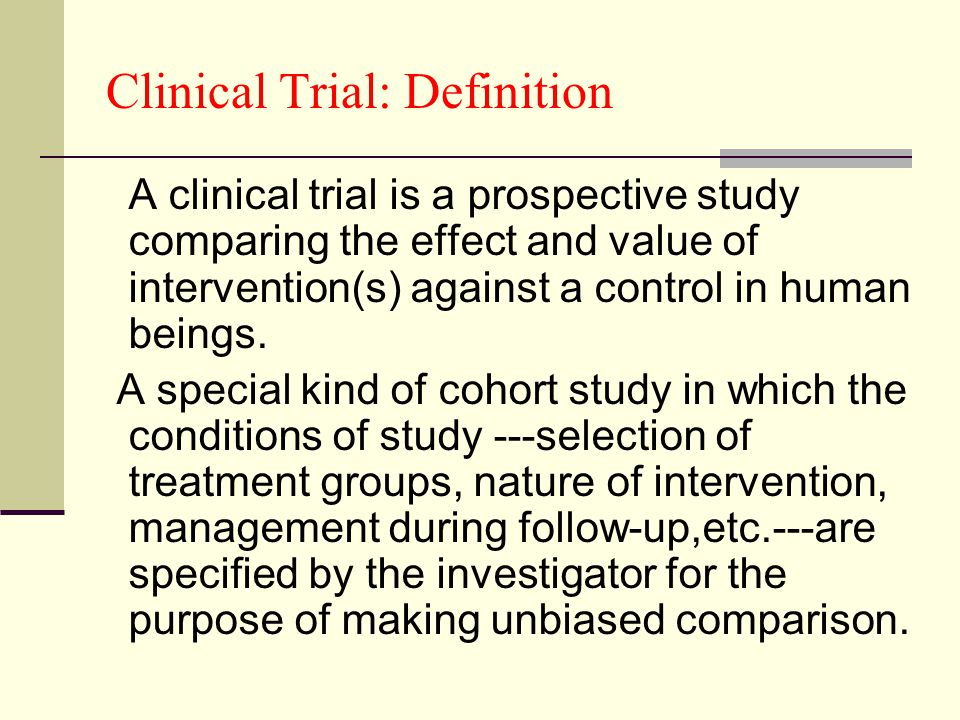 Clinical Trial | Definition of Clinical Trial by Merriam ...