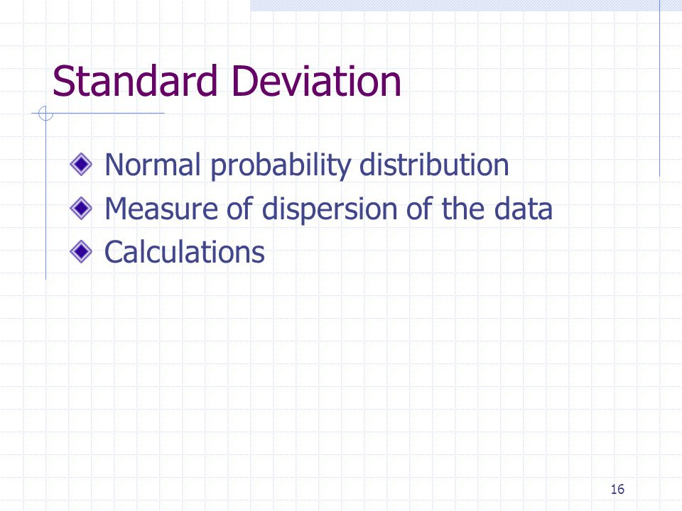 Standard Deviation Normal probability distribution