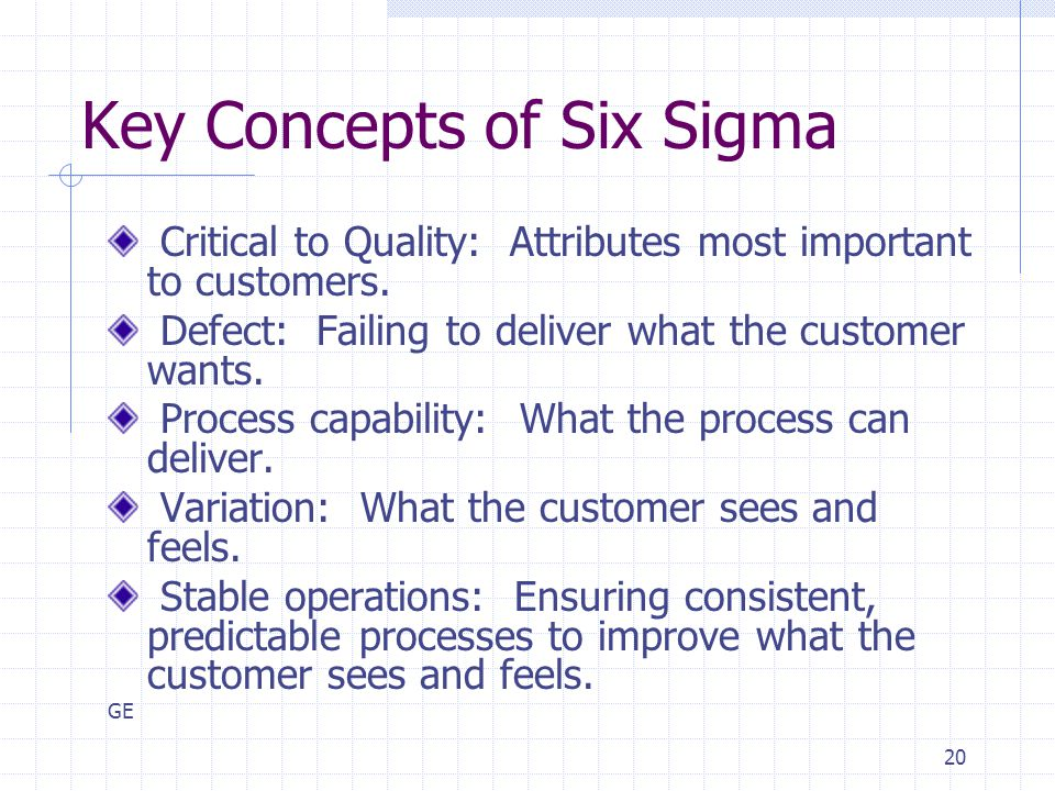 Key Concepts of Six Sigma