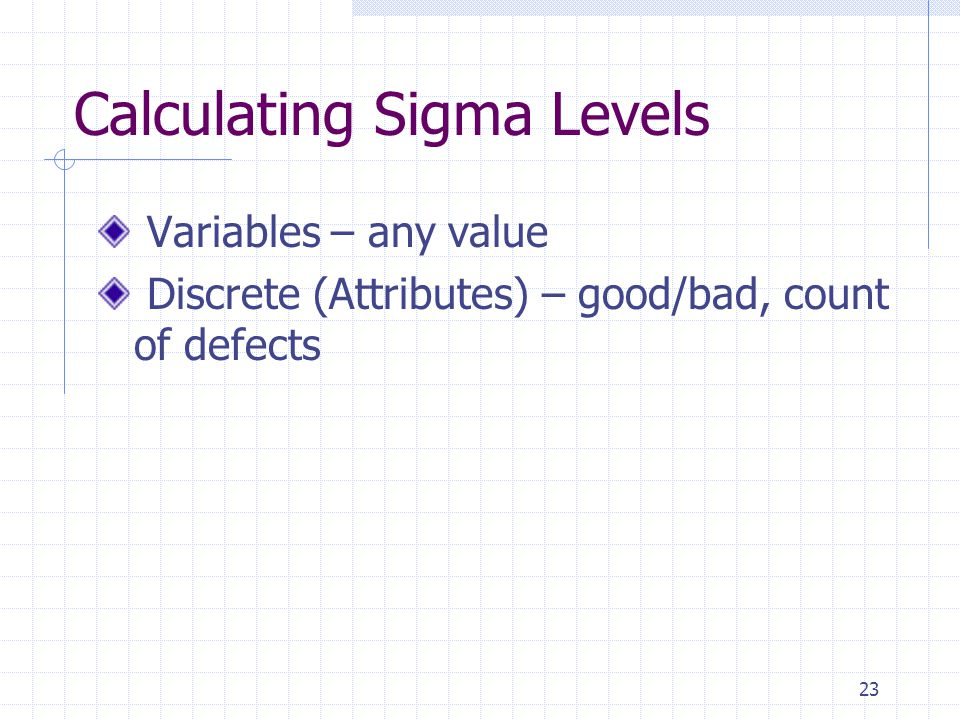 Calculating Sigma Levels