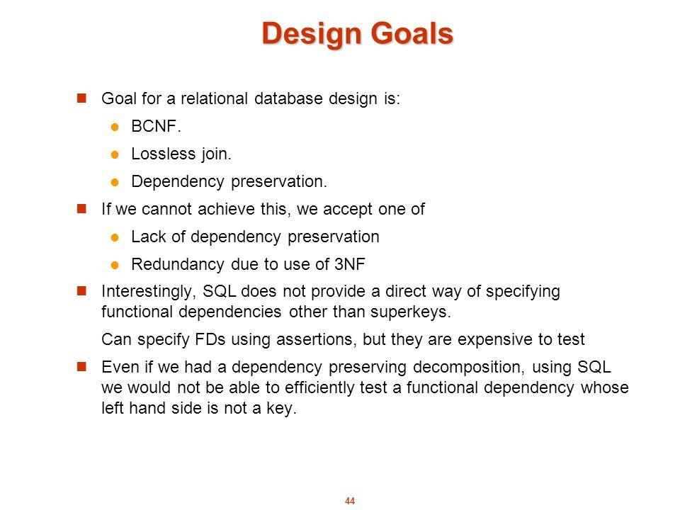 relational database design