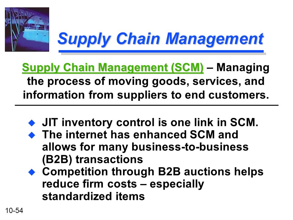 SCM As a Method of Inventory Control&nbspEssay