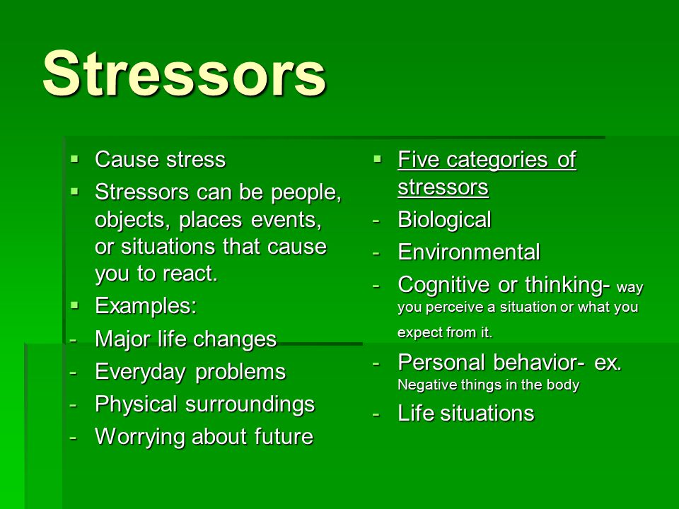 The New List of Life's Top Stressors