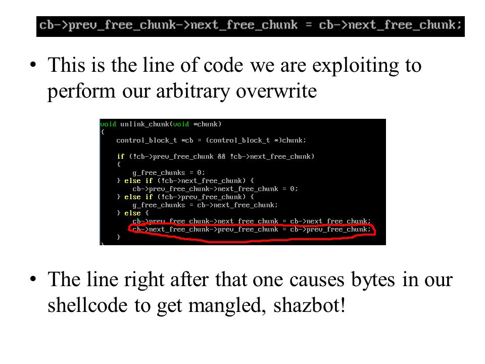 This is the line of code we are exploiting to perform our arbitrary overwrite