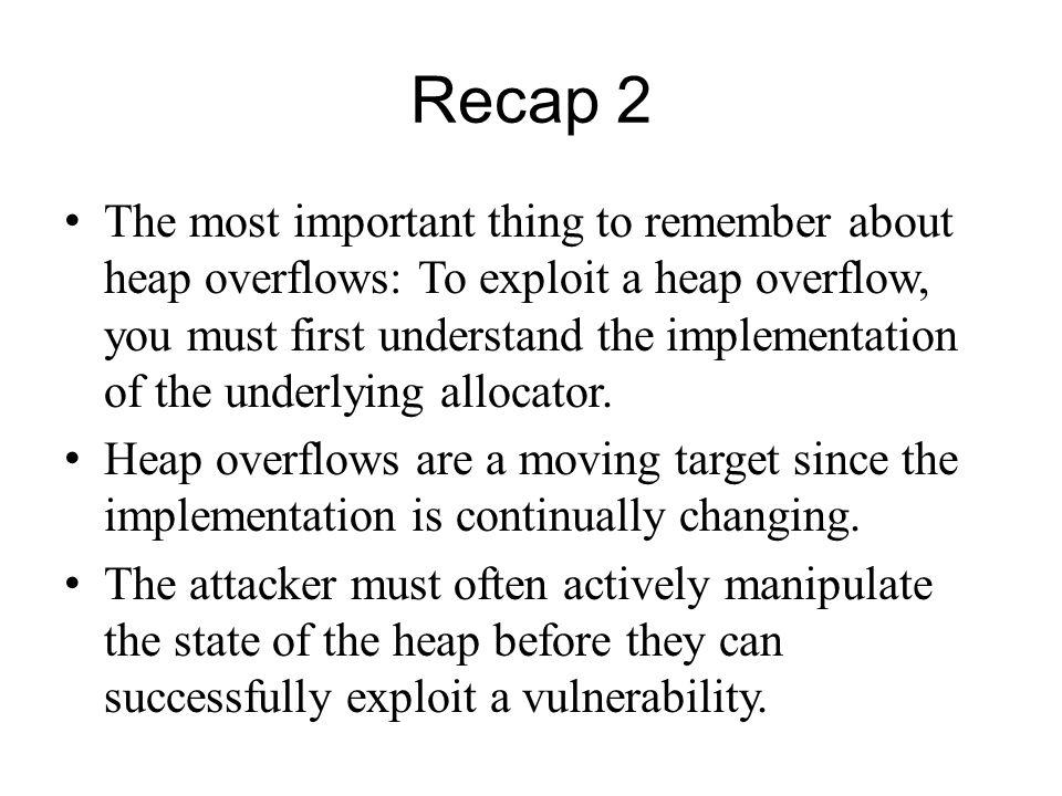 Recap 2