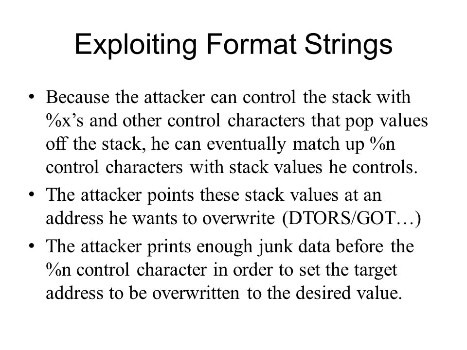 Exploiting Format Strings