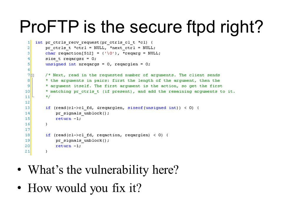 ProFTP is the secure ftpd right