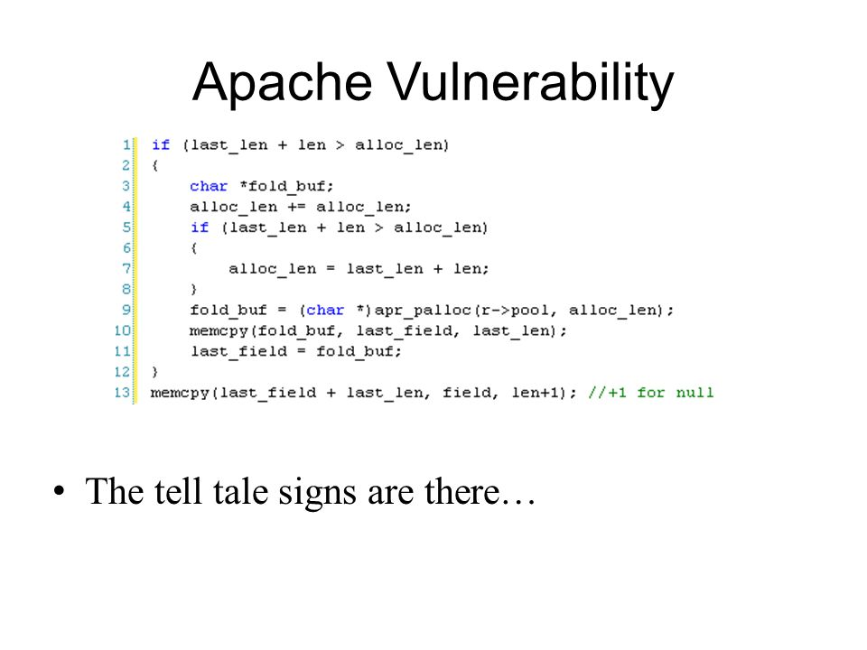 Apache Vulnerability The tell tale signs are there…