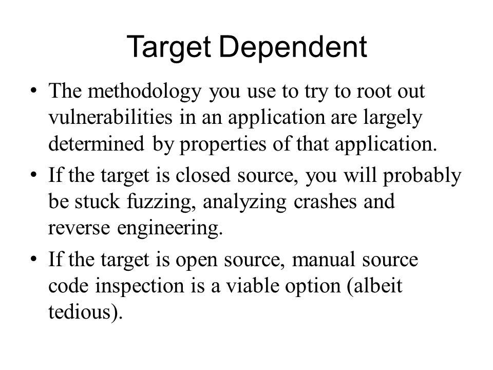 Target Dependent