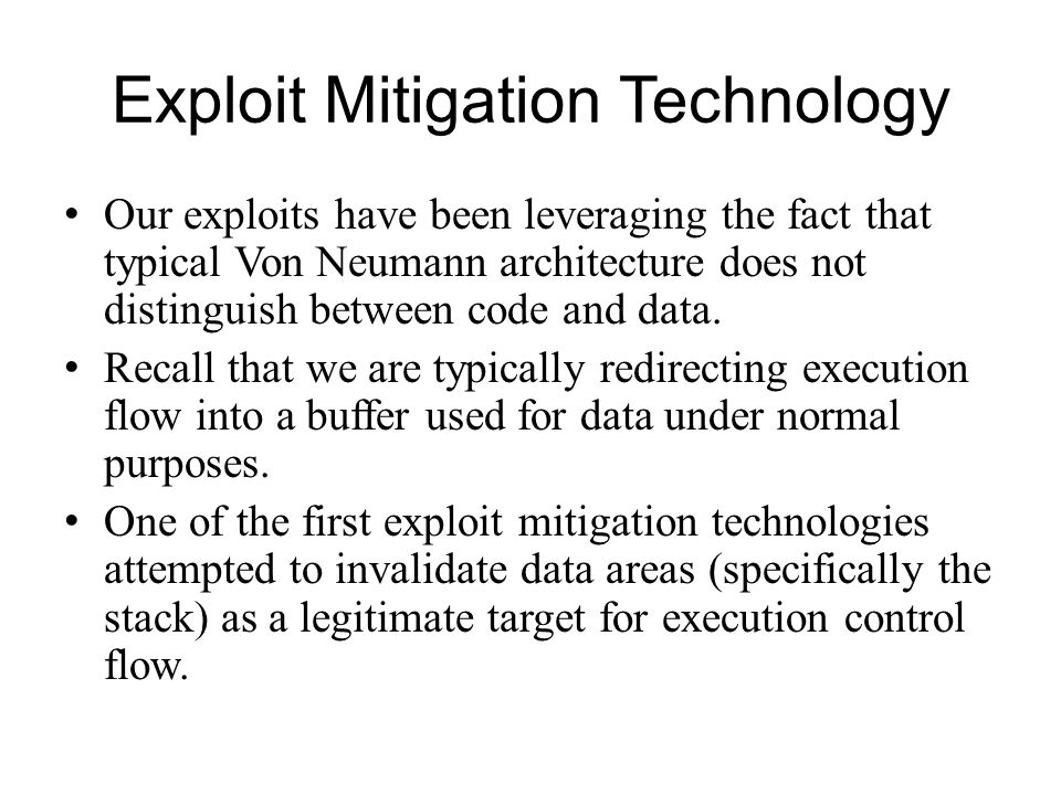 Exploit Mitigation Technology