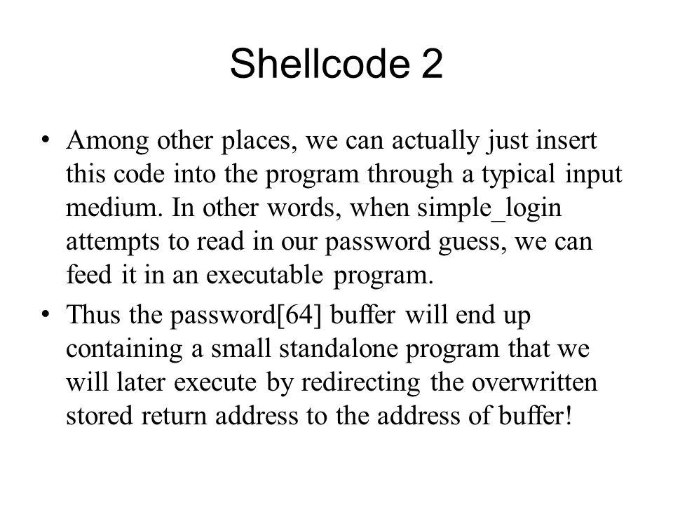 Shellcode 2