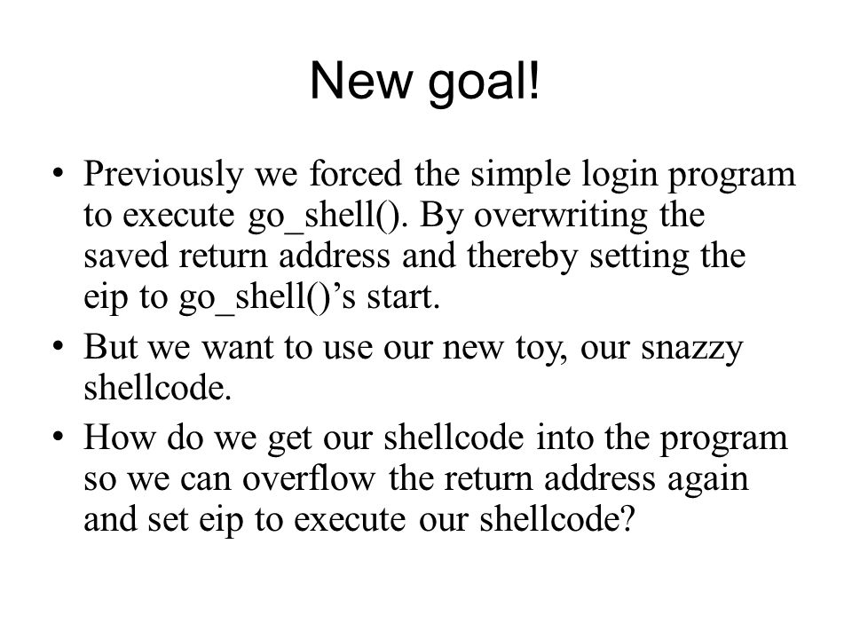 New goal!