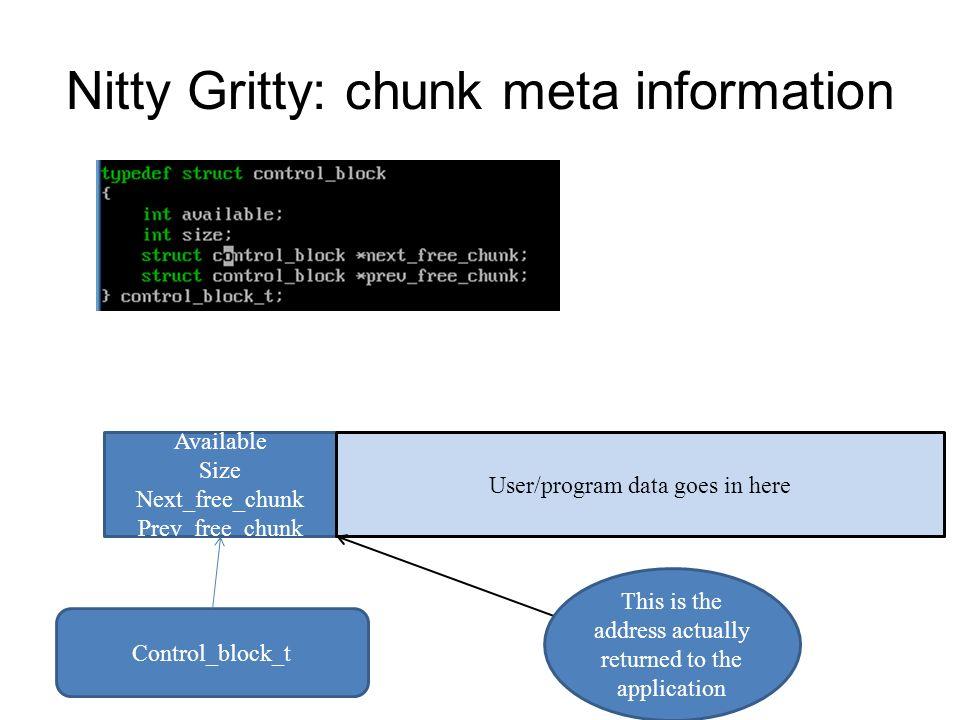 Nitty Gritty: chunk meta information