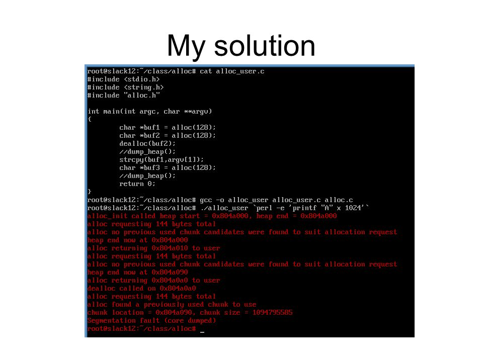 My solution