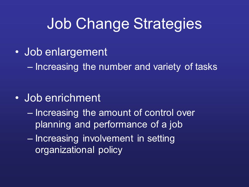 job enrichment and growth satisfaction Read the article job enrichment: increasing job satisfaction and complete the questions below 1of the five factors of job design, which do you believe is most.