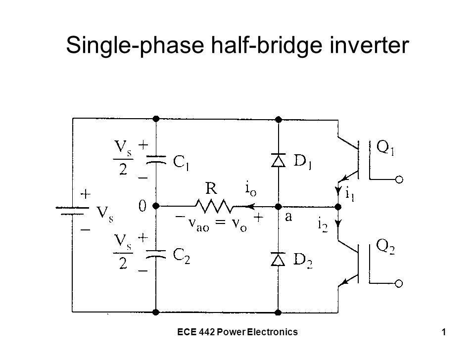 Single Phase Inverter : Single phase half bridge inverter ppt video online download
