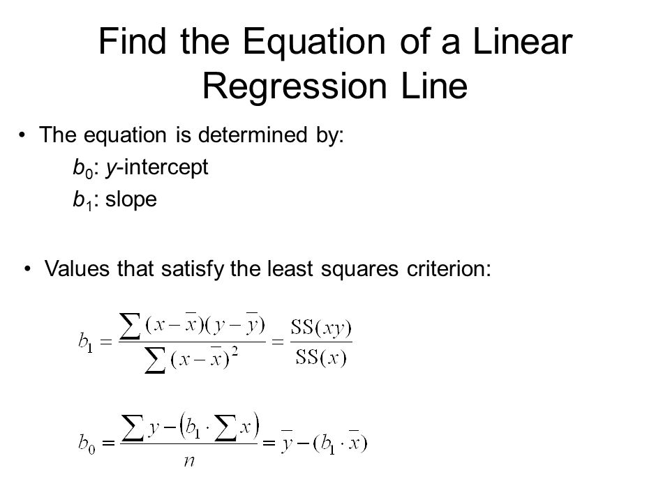 How to Write a Linear Regression Equation