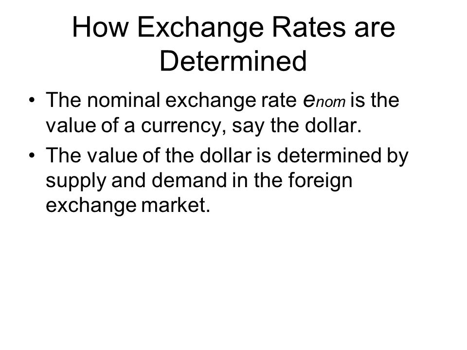 How Exchange Rates are Determined