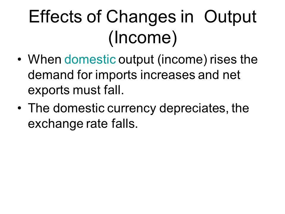Effects of Changes in Output (Income)