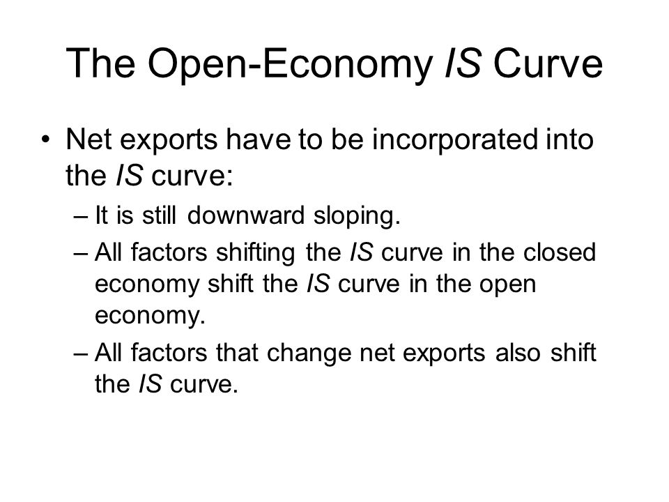 The Open-Economy IS Curve
