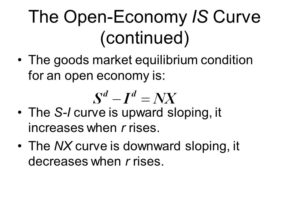 The Open-Economy IS Curve (continued)