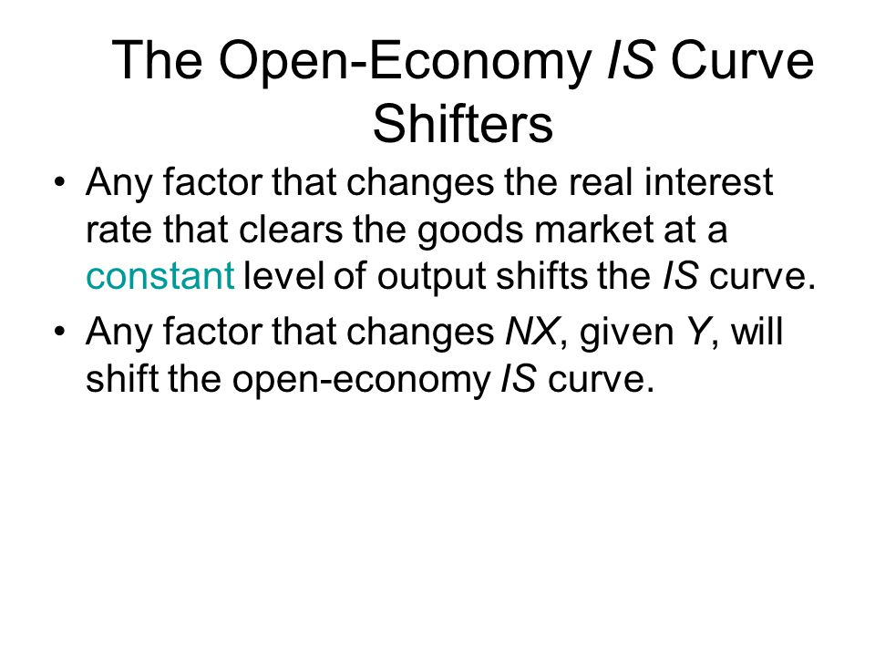 The Open-Economy IS Curve Shifters