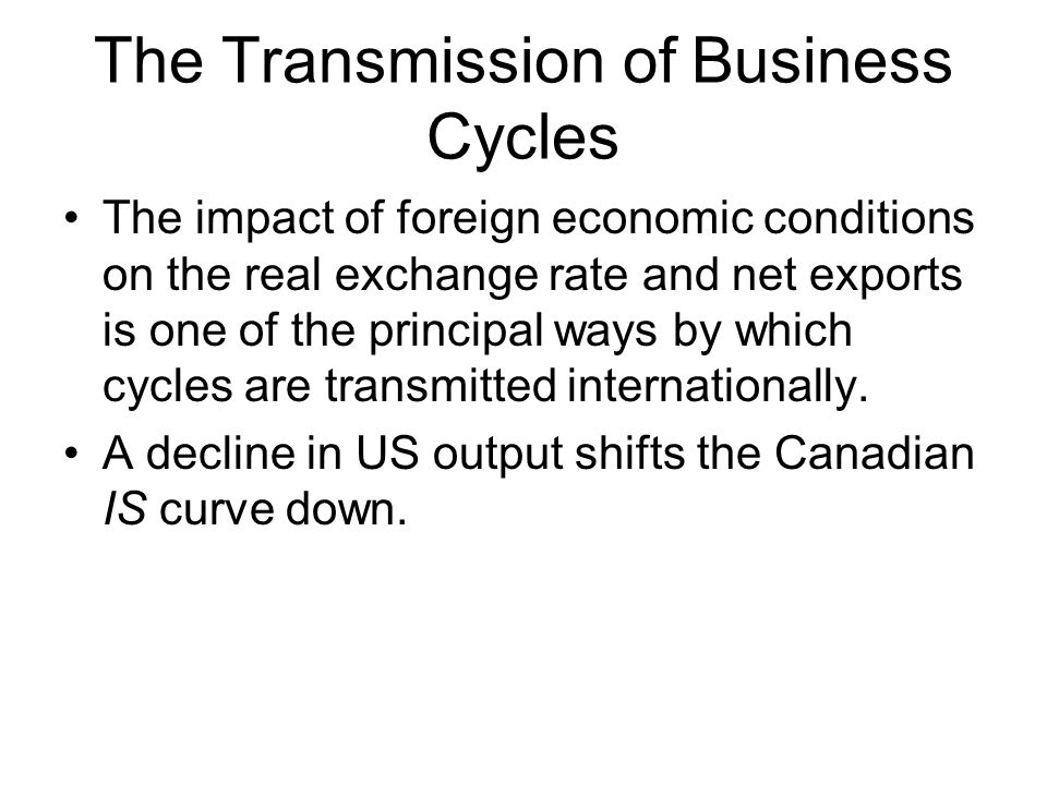 The Transmission of Business Cycles