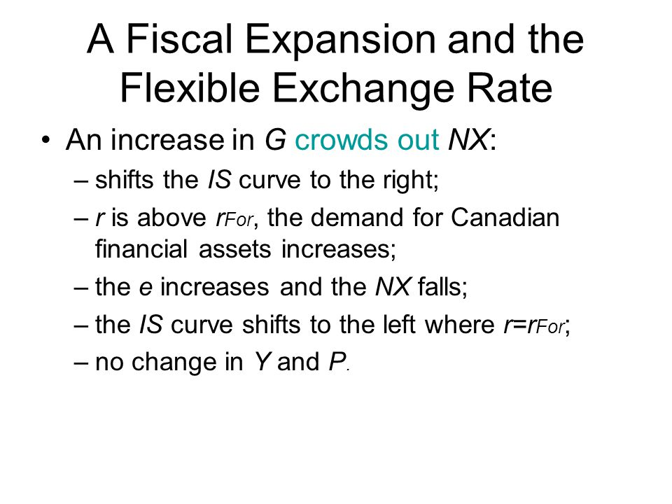 A Fiscal Expansion and the Flexible Exchange Rate
