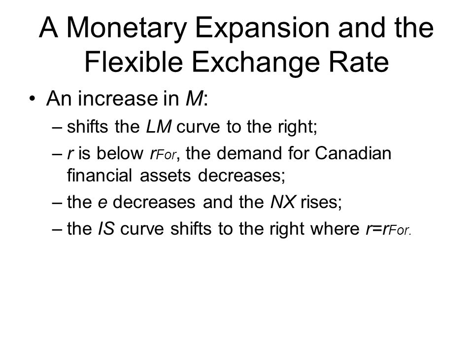 A Monetary Expansion and the Flexible Exchange Rate