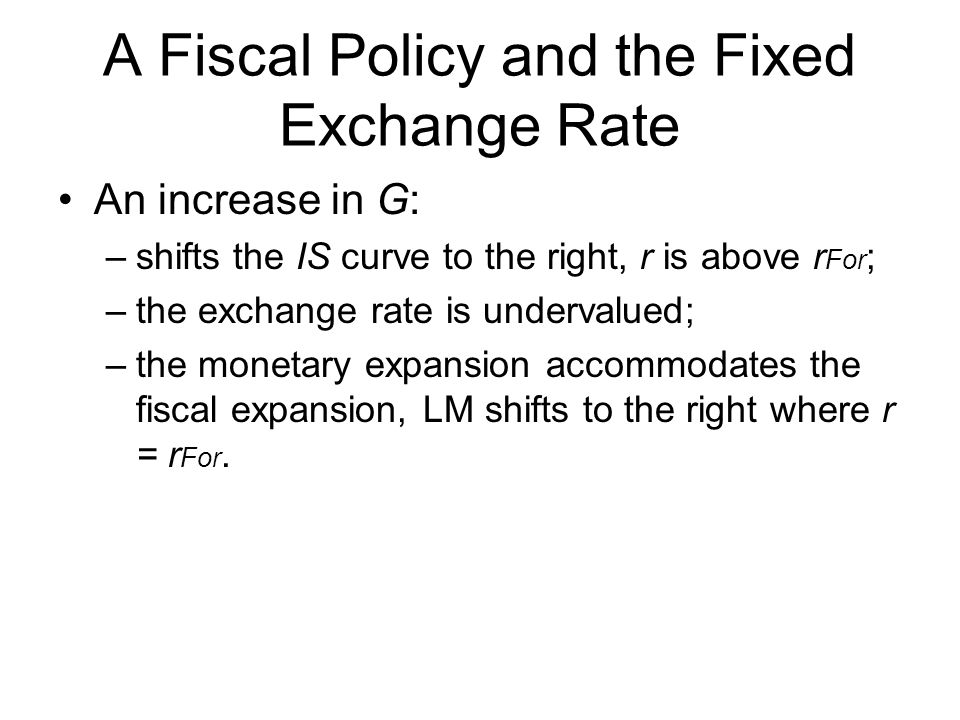 A Fiscal Policy and the Fixed Exchange Rate