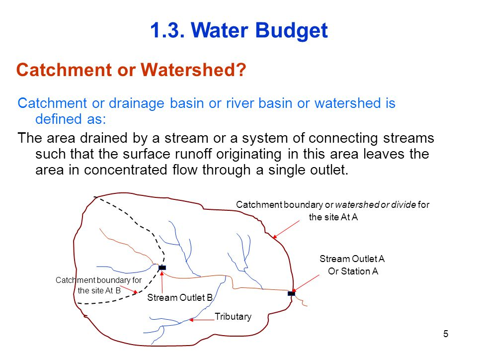 Catchment or Watershed