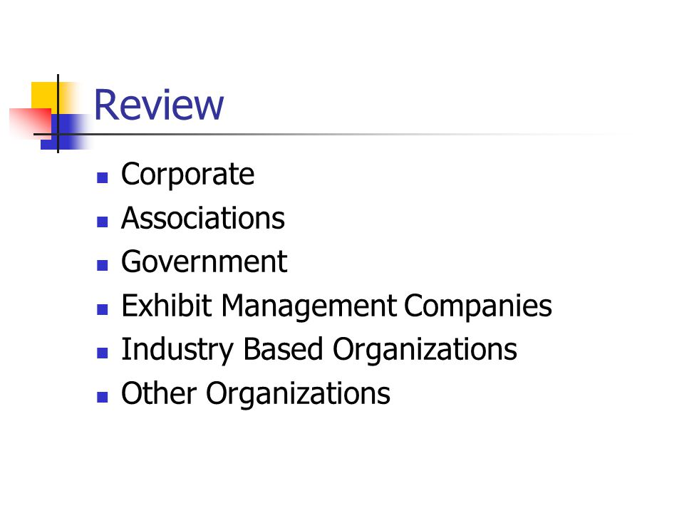 Review Corporate Associations Government Exhibit Management Companies