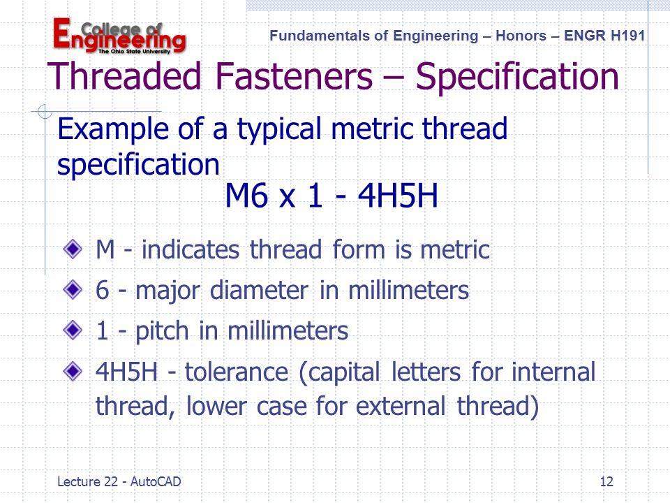 Thread Pitch Diameter Tolerances Chart – HD Wallpapers
