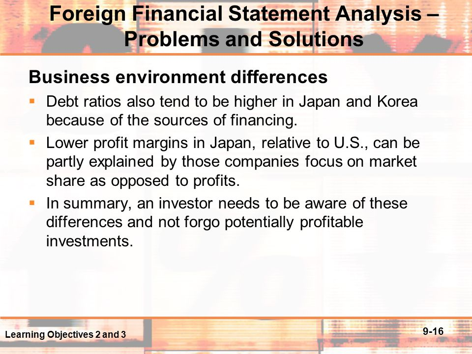 analysis of foreign financial statements This publication contains an illustrative set of interim condensed consolidated financial statements for good group  to make a helpful analysis of the.