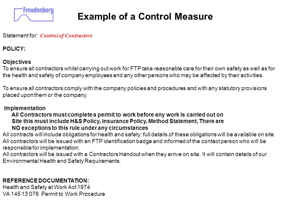Occupational Health And Safety Management System - Ppt Download