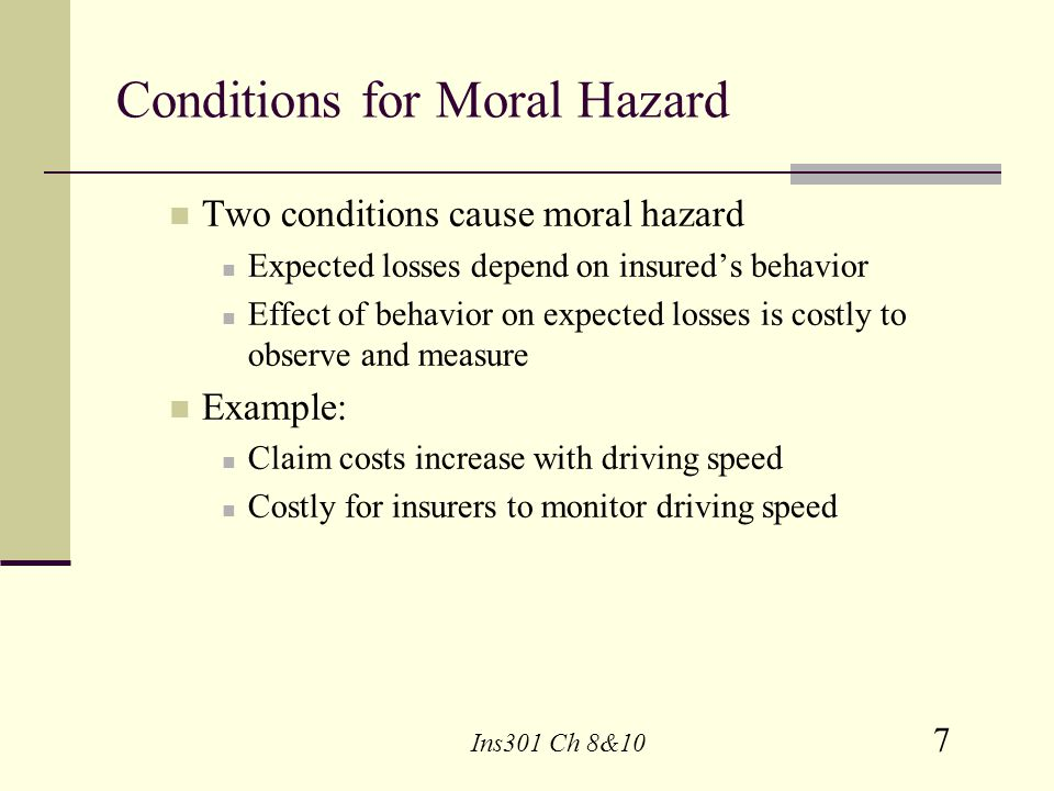 Conditions for Moral Hazard